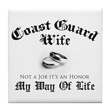USCG Wife: It's an Honor Tile Coaster