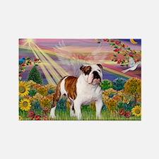 Autumn Angel /Bulldog Rectangle Magnet
