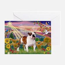 Autumn Angel /Bulldog Greeting Card