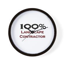 100 Percent Landscape Contractor Wall Clock