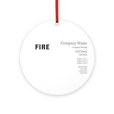 Bonfire Designs Ornament (Round)