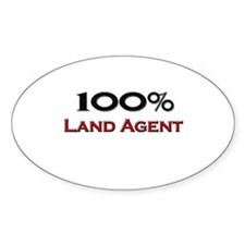 100 Percent Land Agent Oval Decal