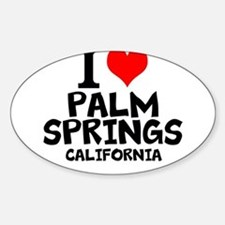 I Love Palm Springs, California Decal