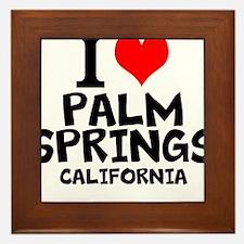 I Love Palm Springs, California Framed Tile