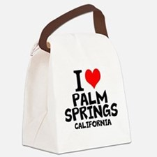 I Love Palm Springs, California Canvas Lunch Bag