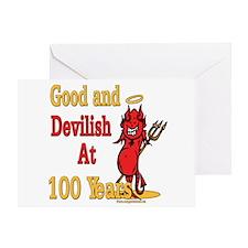 Devilish At 100 Greeting Card