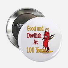 "Devilish At 100 2.25"" Button"