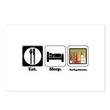 Eat. Sleep. Backgammon. Postcards (Package of 8)