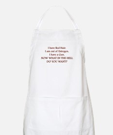 Red Head BBQ Apron