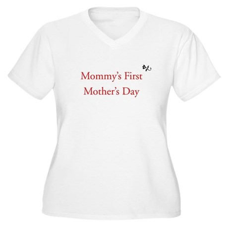 First Mother's Day Women's Plus Size V-Neck T-Shir