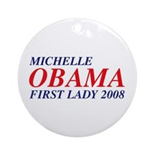 Michelle Obama First Lady 2008 Ornament (Round)