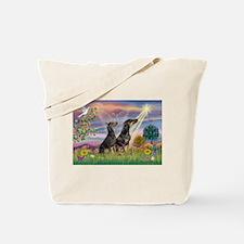 Cloud Angel & Dobie Pair Tote Bag