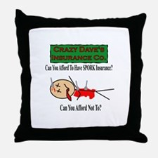 Spork Insurance Throw Pillow