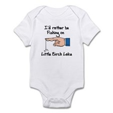 432 I'd Rather be Fishing Infant Bodysuit
