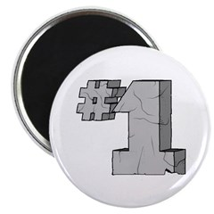 "#1 First Birthday 2.25"" Magnet (100 pack)"