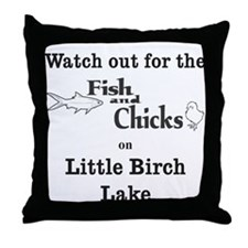 428 Fish & Chicks Throw Pillow