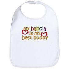 Babcia is My Best Buddy Bib