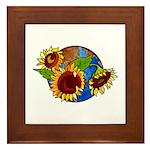 Sunflower Planet Framed Tile