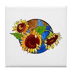 Sunflower Planet Tile Coaster