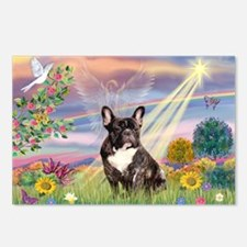Cloud Angel / Fr Bulldog (brin) Postcards (Package