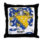 Nagel Family Crest Throw Pillow