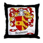 Neubauer Family Crest Throw Pillow