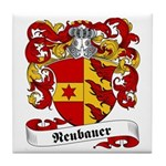 Neubauer Family Crest Tile Coaster