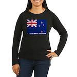 I Love New Zealand Women's Long Sleeve Dark T-Shir