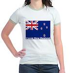 I Love New Zealand Jr. Ringer T-Shirt