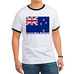I Love New Zealand Ringer T