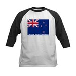 I Love New Zealand Kids Baseball Jersey