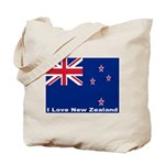 I Love New Zealand Tote Bag