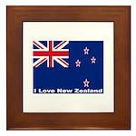 I Love New Zealand Framed Tile