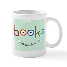 Books Make Me Happy Small Mug