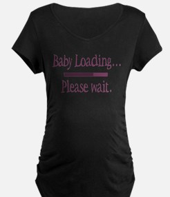 Pink Baby Loading Please Wait T-Shirt