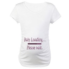 Pink Baby Loading Please Wait Shirt