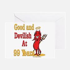 Devilish at 99 Greeting Card