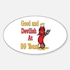 Devilish at 99 Oval Decal
