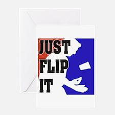 """Just Flip It Flip Cup"" Greeting Card"