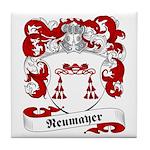 Neumayer Family Crest Tile Coaster