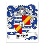 Nissen Family Crest Small Poster