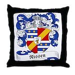 Nissen Family Crest Throw Pillow