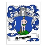 Normann Family Crest Small Poster