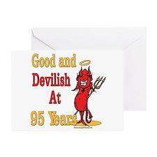 Devilish at 95 Greeting Card