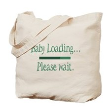 Green Baby Loading Please Wait Tote Bag