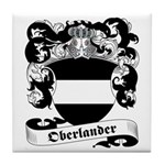 Oberlander Family Crest Tile Coaster
