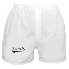Vintage Jonah (Black) Boxer Shorts