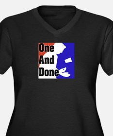 """""""One And Done Flip Cup"""" Women's Plus Size V-Neck D"""