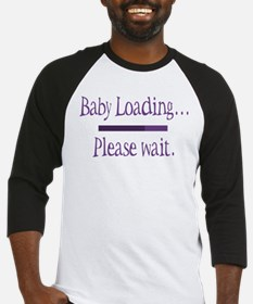 Purple Baby Loading Please Wait Baseball Jersey