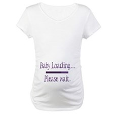 Purple Baby Loading Please Wait Shirt